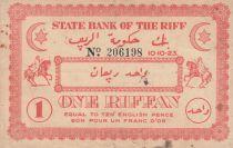 Maroc 1 Riffan - 10-10-1923 - TTB - P.R.1