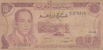 Maroc 10 Dirhams  Hassan II - 1970 - B+ - P.57a - Série BC/31