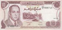 Maroc 10 Dirhams  Hassan II - 1985 - SUP + - P.57b - Série BE/31
