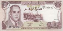 Maroc 10 Dirhams  Hassan II - 1985 - SUP + - P.57b - Série BF/2