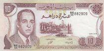 Maroc 10 Dirhams  Hassan II - 1985 - SUP+ - P.57b - Série BE/59