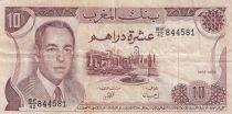 Maroc 10 Dirhams  Hassan II - 1985 - TTB - P.57b - Série BE/42