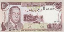 Maroc 10 Dirhams  Hassan II - 1985 -SPL - P.57b - Série BE/64
