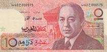 Maroc 10 Dirhams 1987 - Hassan II, instrument de musique