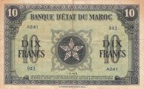 Maroc 10 Francs - 01-05-1943 - TTB - Série A.241 - P.25a
