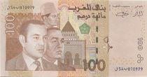Maroc 100 Dirhams Mohamed VI, Hassan II - 2002