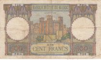 Maroc 100 Francs - Ksar d\'Aït-ben-haddou - 14-05-1941 - TB+ - Série F.914  P.20