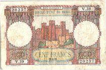 Maroc 100 Francs - Ksar d\'Aït-ben-haddou - 19-04-1951 - TTB - Série V.39 - P.45