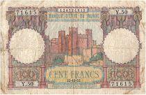 Maroc 100 Francs Forteresse - 1952