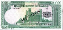 Maroc 1000 Francs - Spécimen  N°88 - Ouarzazate Kasba de Skoura - 29/05/1951