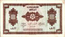 Maroc 1000 Francs Marron, Impr Américaine - 01-03-1944