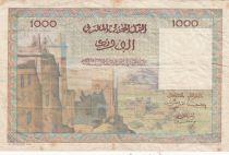 Maroc 1000 Francs Vue de la ville de Marrakech - 10-12-1952- B - Série L.18 - P.47