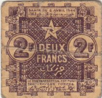 Maroc 2 Francs 1944 - Ville