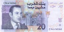 Maroc 20 Dirhams Mohamed VI, Vue de Ksour - 2005