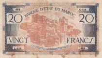 Maroc 20 Francs - 1943 - TB+ - Série A.036 - P.39