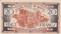Maroc 20 Francs - 1943 - TB+ - Série D.016 - P.39