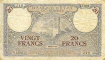 Maroc 20 Francs Minaret - 1941