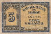 Maroc 5 Francs - 01-08-1943
