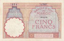 Maroc 5 Francs 14-11-1941 - SUP- Série L.707 - P.23Ab