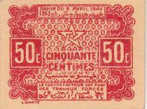 Maroc 50 Centimes, Empire Cherifien 06.04.1944 - SPL - P.41