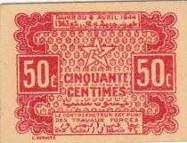 Maroc 50 Centimes 1944 Forteresse - 1944