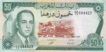 Maroc 50 Dirhams  Hassan II - 1970 - SUP - P.58a - Série CA/79