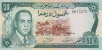 Maroc 50 Dirhams  Hassan II - 1970 - TTB - P.58a - Série C/77