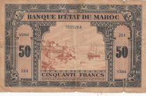 Maroc 50 Francs - 01-03-1944 - TB - Série V.284- P.26b