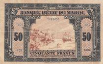 Maroc 50 Francs - 01-08-1943 - TTB - P.26a