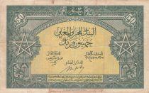 Maroc 50 Francs - 01-08-1943 - TTB - Série P52 - P.26a