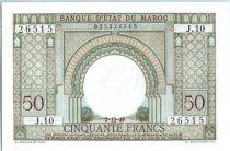 Maroc 50 Francs Porte, décor oriental - 1949