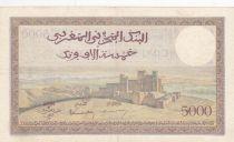 Maroc 5000 Francs Vue de la ville de Tanger - 19-04-1951- TTB - Série O.448 - P.23c