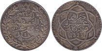 Maroc Y.25 1 Rial, Moulay Hafid I (1329) - 1911