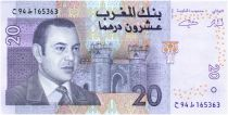 Marruecos 20 Dirhams Mohamed VI - View of Ksour - 2005