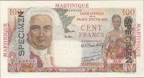 Martinica 100 Francs La Bourdonnais - 1946 Specimen