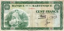 Martinica 100 Francs Woman with fruits - 1942