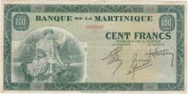 Martinica 100 Francs Woman with fruits - 1942 Serial A.65