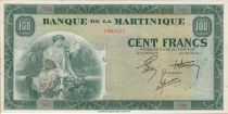 Martinica 100 Francs Woman with fruits - 1942 Serial J.64