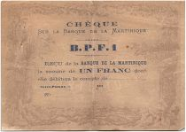 Martinique 1 Franc Purple - 1870