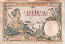 Martinique 100 Francs Femme au sceptre - 1932