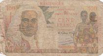 Martinique 100 Francs La Bourdonnais - 1946 - Serial J.47 - P.31