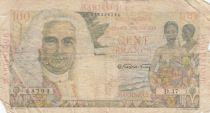 Martinique 100 Francs La Bourdonnais - 1946 - Série D.47 - Etat B