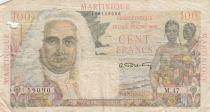 Martinique 100 Francs La Bourdonnais - 1946 - Série M.47 - Etat B