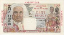 Martinique 100 Francs La Bourdonnais - 1946 Specimen