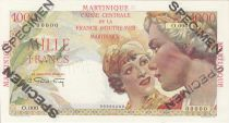 Martinique 1000 Francs France Union - Type 1946 Specimen