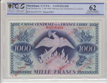 Martinique 1000 Francs Phenix - 1941 (1944)- PCGS 62 - SPL