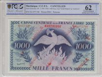 Martinique 1000 Francs Phenix - Annulé 1941 - TA077.740 - PCGS 62