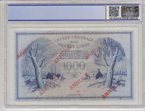 Martinique 1000 Francs Phenix - Annulé 1941 - TA077.740 - PCGS 62