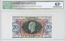 Martinique 20 Francs Marianne  - UNC63 - 1944