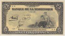 Martinique 25 Francs Agriculture - 1943 Série E.6